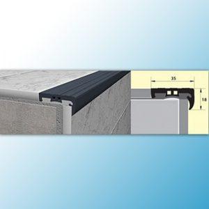 PVU35 - ПВХ угол черный - 2,5м