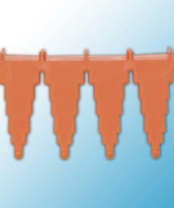 Настенный держатель для инвентаря, 240 мм, оранжевый цвет