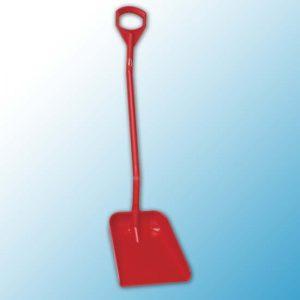 Эргономичная большая лопата с длинной ручкой, 380 x 340 x 90 мм., 1310 мм, красный цвет