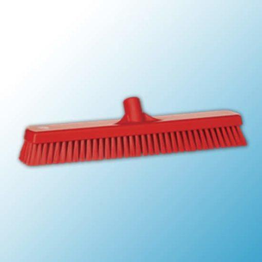 Щетка для мытья полов и стен, 470 мм, жёсткий ворс, красный цвет