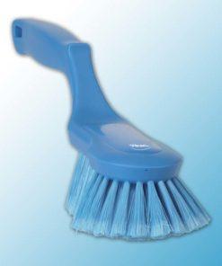 Щетка ручная эргономичная, 330 мм, Мягкий/ расщепленный, синий цвет
