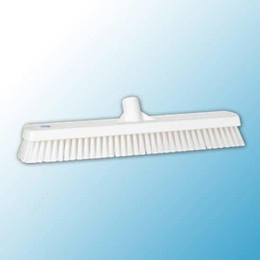 Щетка для мытья полов и стен, 470 мм, жёсткий ворс, белый цвет
