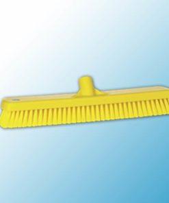 Щетка для мытья полов и стен, 470 мм, жёсткий ворс, желтый цвет