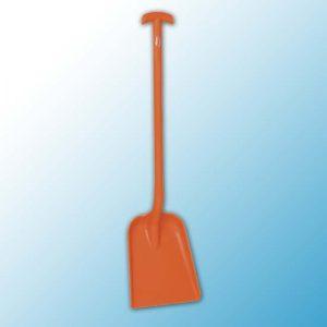 Лопата монолитная, 327 x 271 x 50 мм., 1035 мм, оранжевый цвет