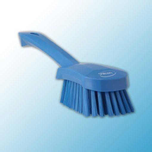 Щетка для мытья с короткой ручкой, 270 мм, средний ворс, синий цвет