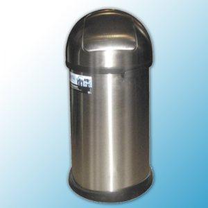 """Корзина для мусора металлическая хромированная """"Push bin"""" 50л"""