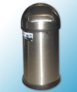 """Корзина для мусора металлическая хромированная """"Push bin"""" 50л матовая"""