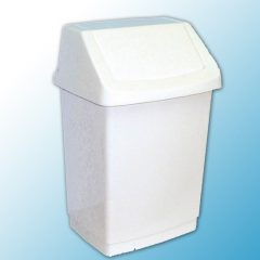 Корзина пластиковая с поворотной крышкой (50 л.)