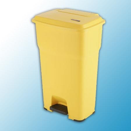 ГЕРА контейнеры мусорные с педалью желтый 60 литров