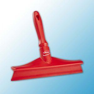 Сверхгигиеничный сгон для столов с мини-ручкой, 245 мм, красный цвет