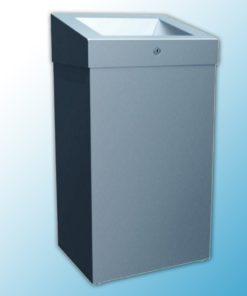 """Корзина для мусора с конусным отверстием металлическая """"MERIDA STELLA PLUS"""" 47л (матовая)"""