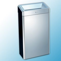 """Корзина для мусора с конусным отверстием металлическая """"MERIDA STELLA"""" (полированная) 27л"""