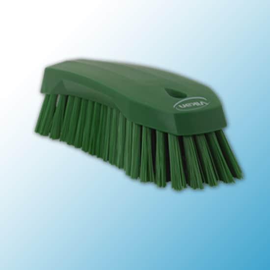 Щетка ручная L, 200 мм, жёсткий ворс, зеленый цвет