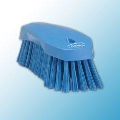 Щетка ручная L, 200 мм, жёсткий ворс, синий цвет