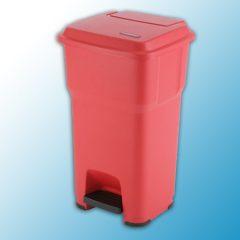 ГЕРА контейнеры мусорные с педалью красный 60 литров