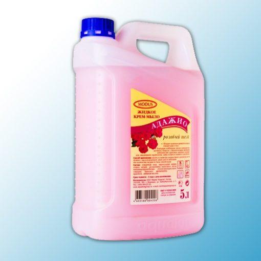 Жидкое крем-мыло Адажио перл., 5л, Розовый шелк