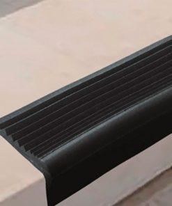 РВ1 - Угловая самоклеящаяся противоскользящая накладка на ступени, черная