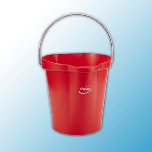 Ведро, 12 л, красный цвет