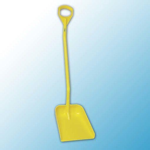 Эргономичная большая лопата с длинной ручкой, 380 x 340 x 90 мм., 1310 мм, желтый цвет