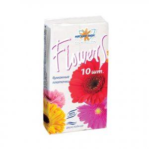 """Платочки """"Мягкий знак"""" Flowers 2-х сл. 10 штx340"""