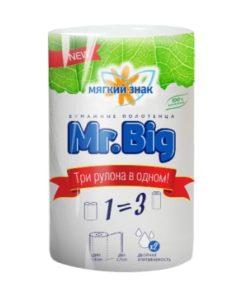 """Бумажные полотенца бумажные """"Мягкий знак """"Deluxe"""" Mr Big 2-х сл. 1 рул.x24"""
