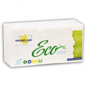 """Салфетки бумажные """"Мягкий знак Eco"""" 250 листов, 1сл. 1 упак.x18, белые"""