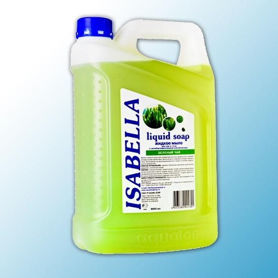 Жидкое мыло Адажио прозрачн. антибактериальн., 5л, Зеленый чай