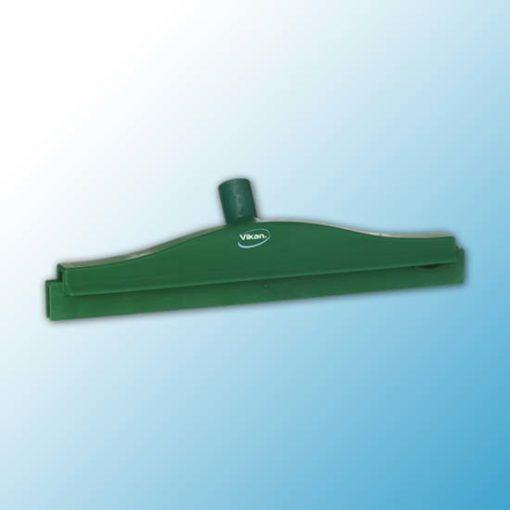 Гигиеничный сгон с подвижным креплением и сменной кассетой, 405 мм, зеленый цвет