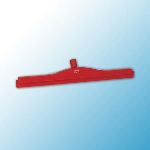 Гигиеничный сгон с подвижным креплением и сменной кассетой, 600 мм, красный цвет