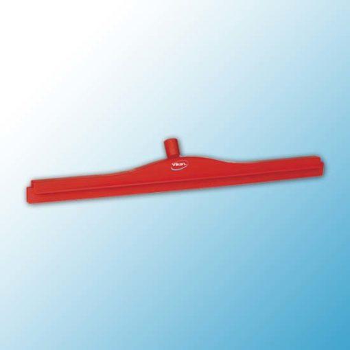 Гигиеничный сгон с подвижным креплением и сменной кассетой, 700 мм, красный цвет