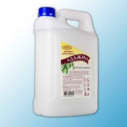 Жидкое крем-мыло Адажио перламутр 5 л Белая акация
