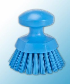 Щетка ручная круглая жесткая, Ø110 мм, жёсткий ворс, синий цвет