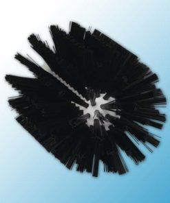 Щетка-ерш для очистки труб, гибкая ручка, Ø103 мм, средний ворс, черный цвет