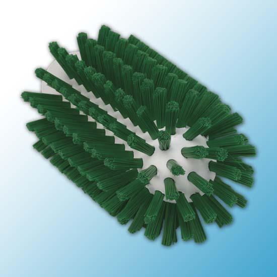 Щетка-ерш для очистки труб, гибкая ручка, Ø63 мм, Жесткий, зеленый цвет