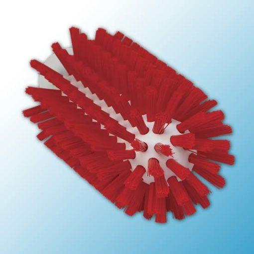 Щетка-ерш для очистки труб, гибкая ручка, Ø63 мм, Жесткий, красный цвет