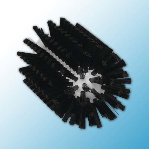 Щетка-ерш для очистки труб, гибкая ручка, Ø77 мм, средний ворс, черный цвет