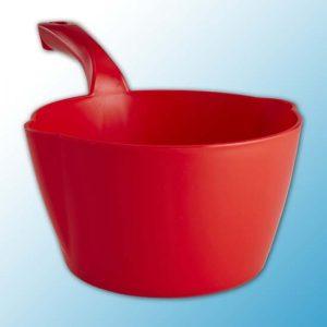 Круглый ковш, 2 л, красный цвет