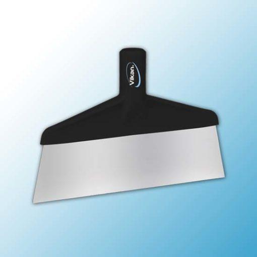 Скребок с рабочей пластиной из нержавейки для столов и полов, 260 мм, черный цвет