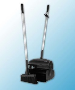 """Набор """"Щетка с совком"""", 370 мм, черный цвет"""