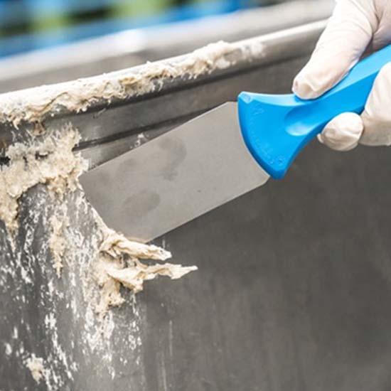 Ручной скребок нержавеющая сталь, 50 мм, синий цвет