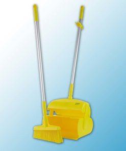 """Набор """"Щетка с совком"""", 370 мм, желтый цвет"""