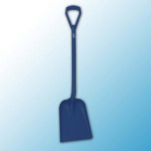 Лопата монолитная металлопластик, 327 x 271 x 50 мм., 1040 мм, металлизированный синий цвет