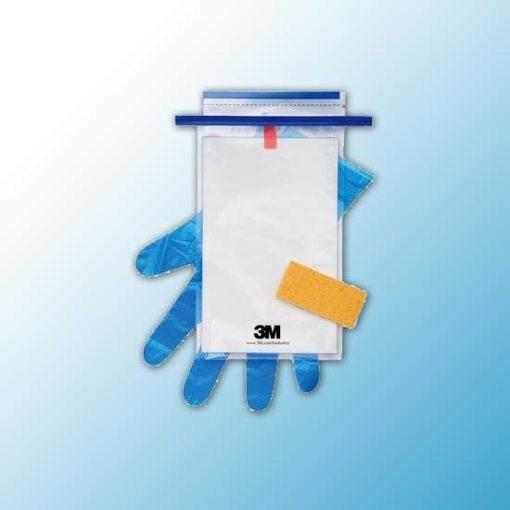 HS10NB2G 3M™ Hydrated-Sponge Губка Увлажненная для Отбора Проб с 10 мл нейтрализующего буфера, перчатки и пакет, 100 шт/ящм